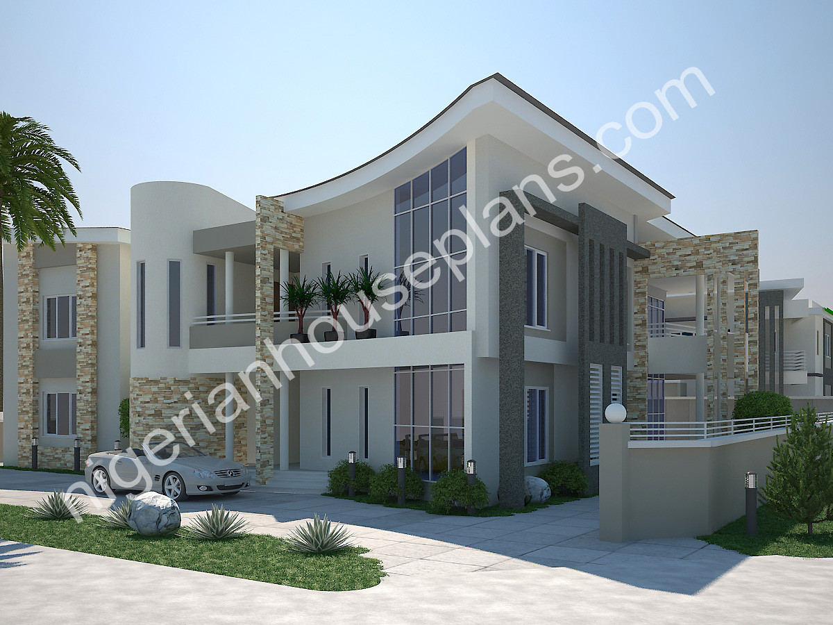 5 bedroom duplex archives nigerianhouseplans for 5 bedroom duplex