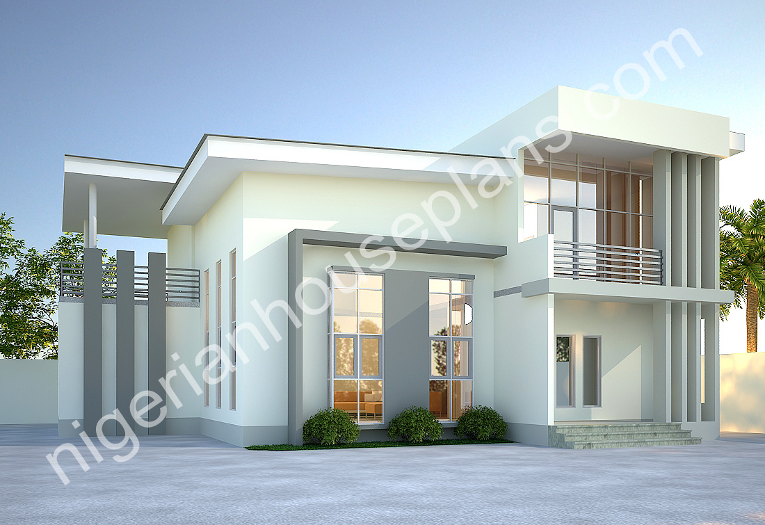 4 bedroom duplex 010 1 - Download 4 Bedroom Residential Modern Duplex House Designs In Nigeria PNG