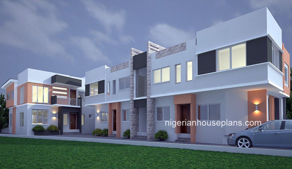 2 bedroom block of flats archives nigerianhouseplans for 4 bedroom duplex design