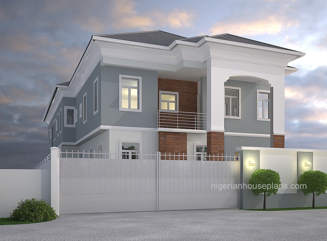 4 bedroom modern duplex 2 100 images for Building plans for duplex homes