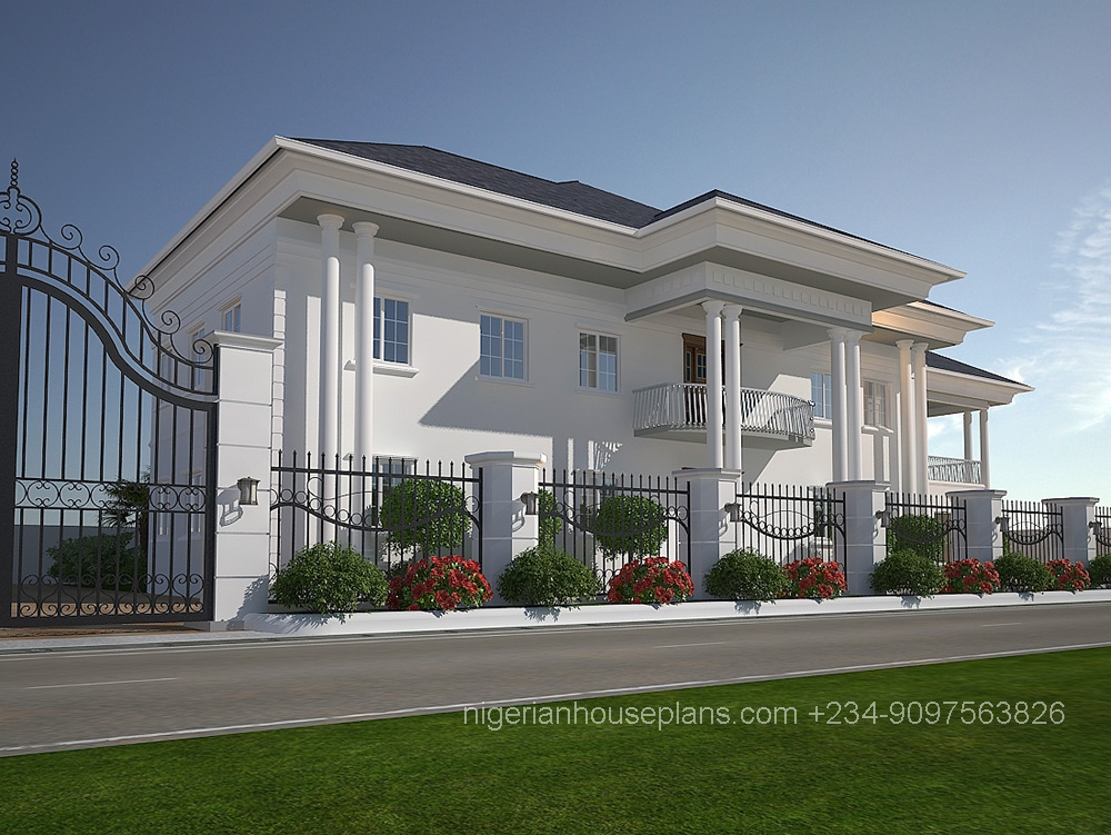 6 bedroom duplex house plans in nigeria for Duplex bed