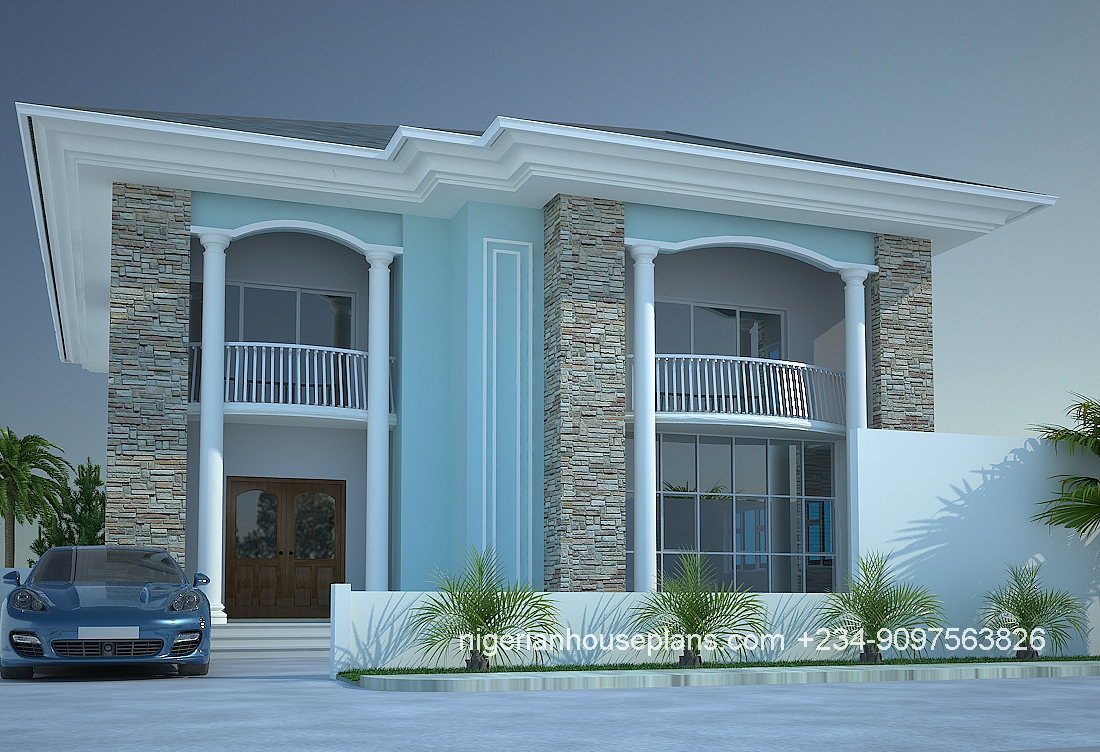 4 bedroom duplex ref 4013 nigerianhouseplans for Modern duplex house plans in nigeria
