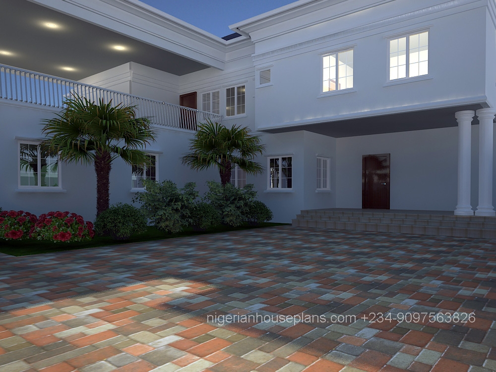 Dr peter 39 s house nigerianhouseplans for 5 bedroom duplex