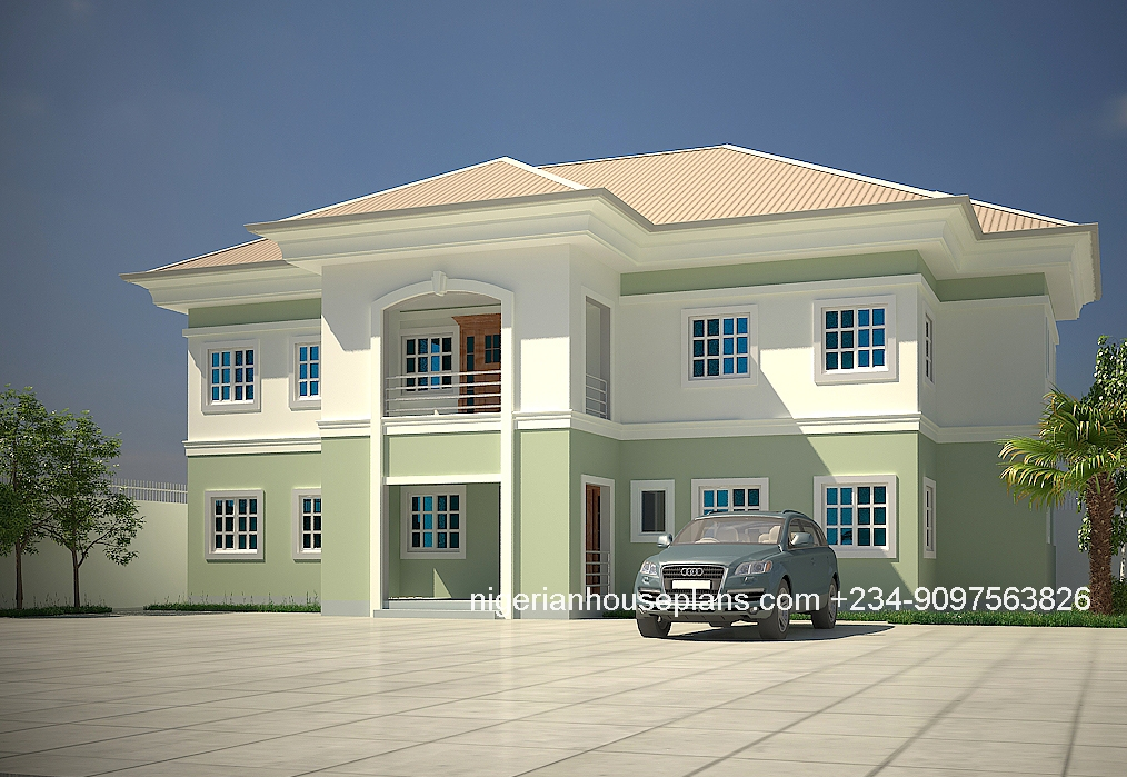 5 bedroom duplex ref 5013 nigerianhouseplans for Nigeria house plans