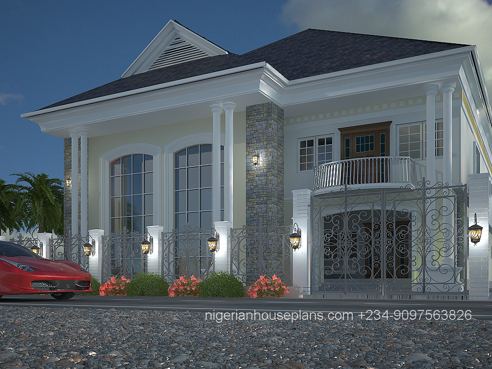 5 bedroom duplex ref 5011 nigerianhouseplans for Nigeria building plans and designs
