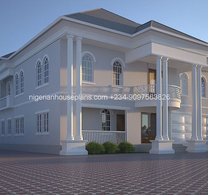6 bedroom duplex ref no 6011 nigerianhouseplans for Nigeria house plans