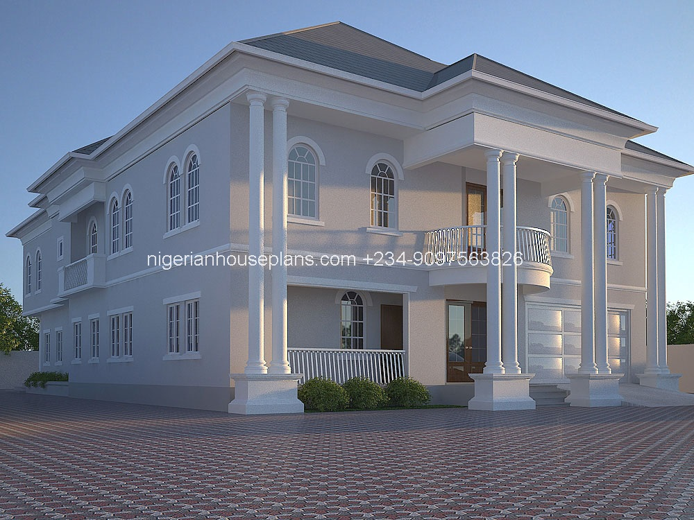 6 bedroom house plans in nigeria for Five bedroom house