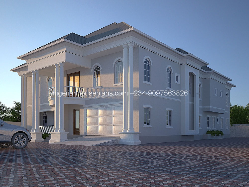 5 bedroom duplex building plan in nigeria escortsea for Nigerian architectural designs