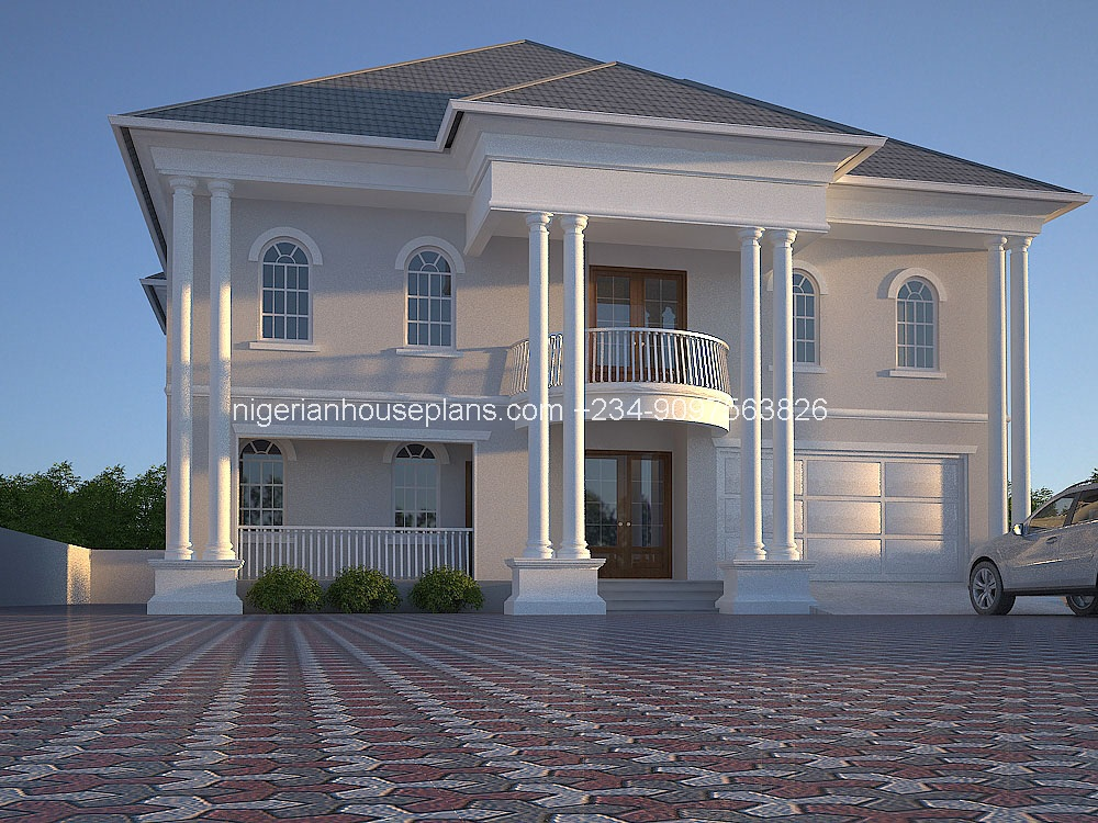 6 bedroom duplex ref 6011 nigerianhouseplans for Duplex plans with cost to build
