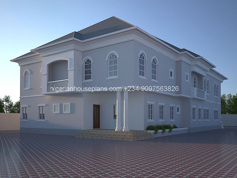 6 bedroom duplex ref 6011 nigerianhouseplans for Estimated cost building duplex