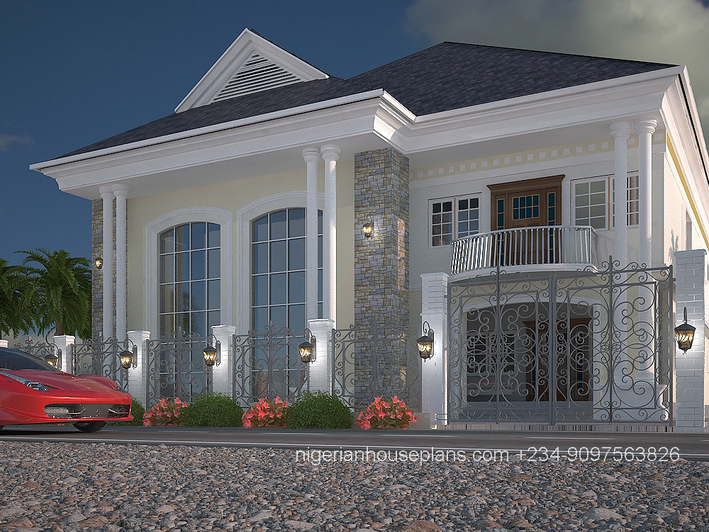 5 bedroom duplex ref 5011 nigerianhouseplans for How much does it cost to build a duplex