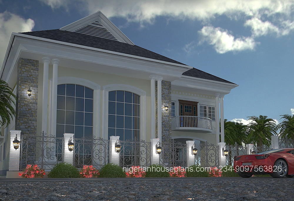 5 bedroom duplex ref 5011 nigerianhouseplans for Nigerian home designs photos