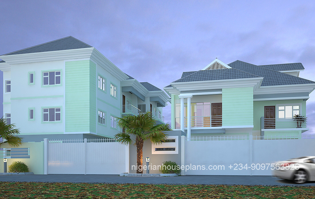 5 bedroom duplex building plan in nigeria for Nigerian home designs photos