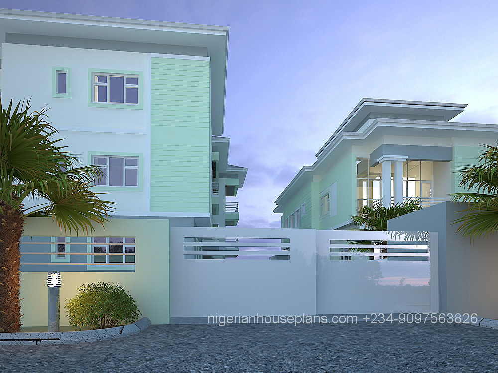 2 3 bedroom block of flats ref 5012 nigerianhouseplans for Duplex bed