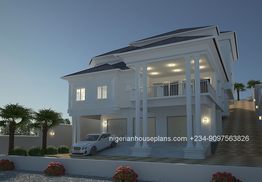 4 bedroom duplex building plans in nigeria for Nigeria house plans