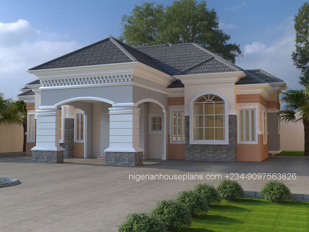 3 bedroom bungalow ref 3025 nigerianhouseplans for 3 bedroom bungalow plans