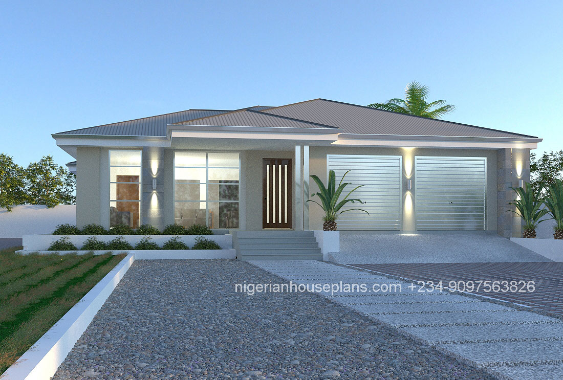 Nigerianhouseplans your one stop building project for Two bedroom bungalow plans