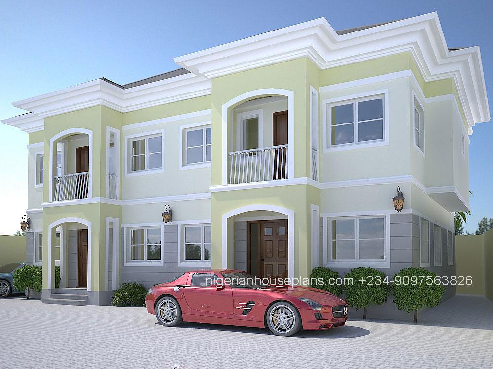 3 Bedroom Semi Detached Duplex Ref 3027 Nigerianhouseplans