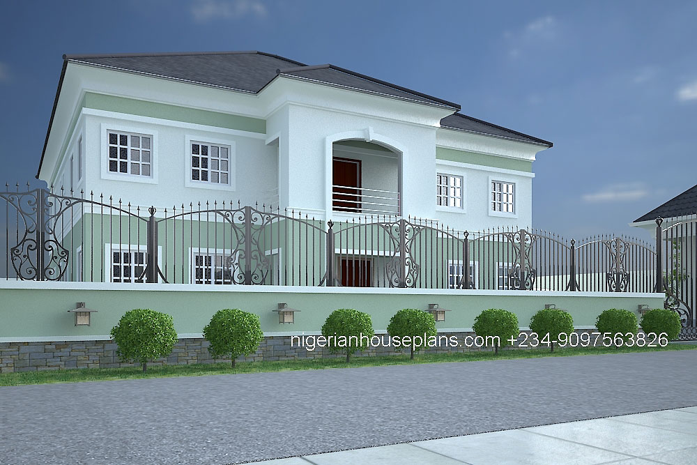 5 bedroom duplex ref 5025 nigerianhouseplans for 5 bedroom duplex