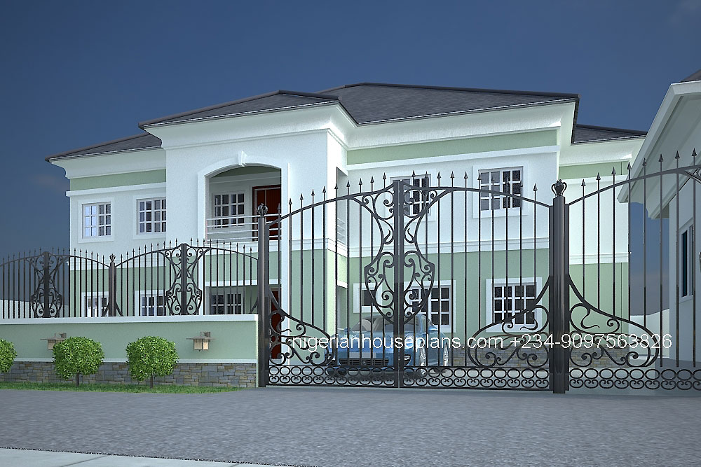 5 bedroom house plans in nigeria for Nigerian architectural designs