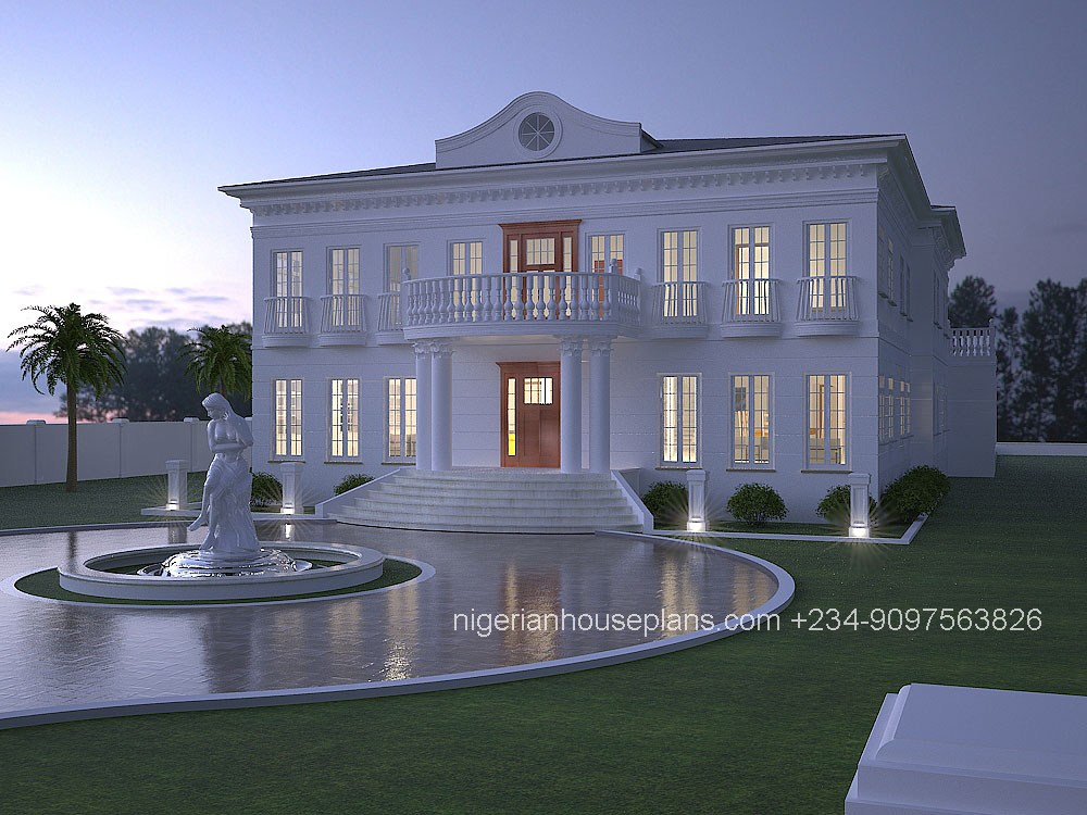 6 bedroom duplex ref 6013 nigerianhouseplans for 6 bedroom house designs