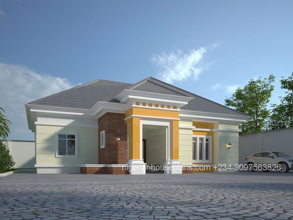 3 bedroom house design in nigeria home for Beautiful house designs in nigeria