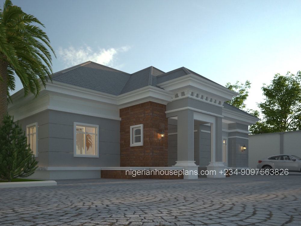 Architectural design of 4 bedroom duplex in nigeria www for House plans nigeria