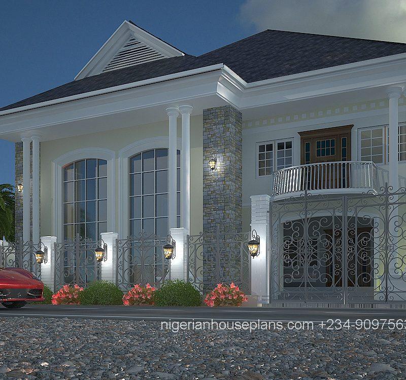 5 bedroom duplex house plans for Nigerian home designs photos