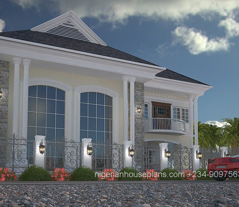 4 bedroom duplex house plans in nigeria for Nigerian architectural designs duplex