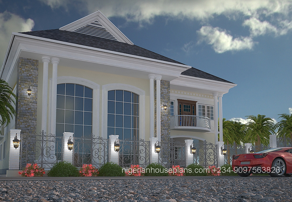 5 bedroom duplex ref 5011 nigerianhouseplans for 4 bedroom duplex design