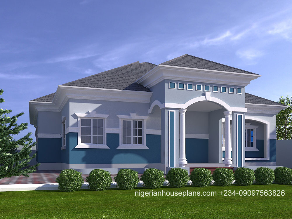 4 bedroom bungalow house design in nigeria for House plan builder free