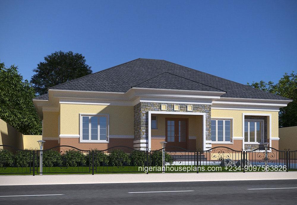 4 Bedroom Bungalow Ref 4030 Nigerianhouseplans