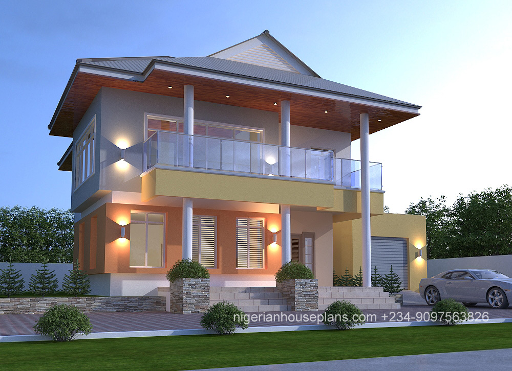 Duplex house plans in nigeria for Modern duplex house plans in nigeria