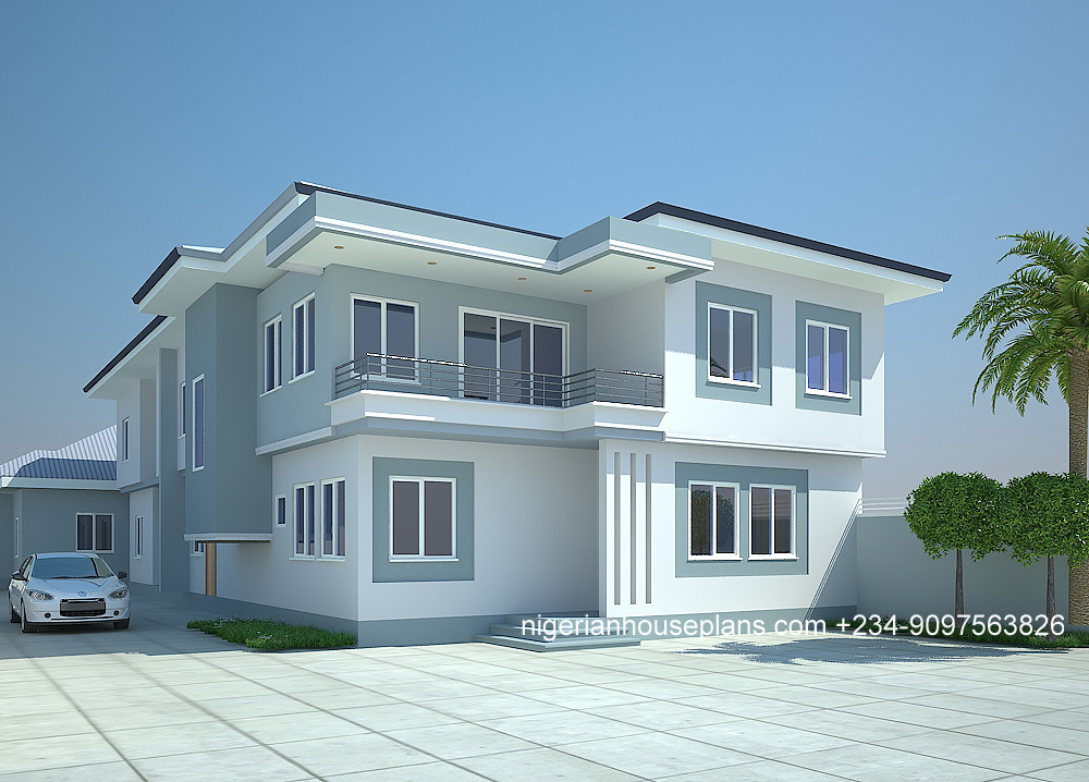 4 Bedroom Duplex 2 Bedroom Flats 4035 Nigerianhouseplans