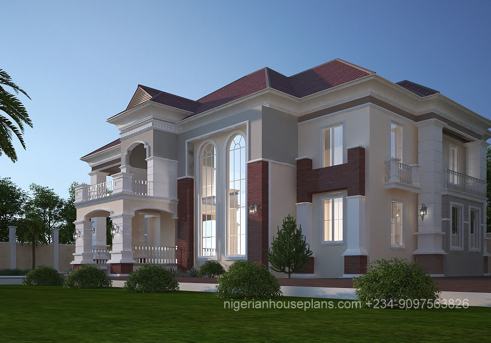 5 bedroom duplex ref 5021 nigerianhouseplans for 5 bedroom duplex