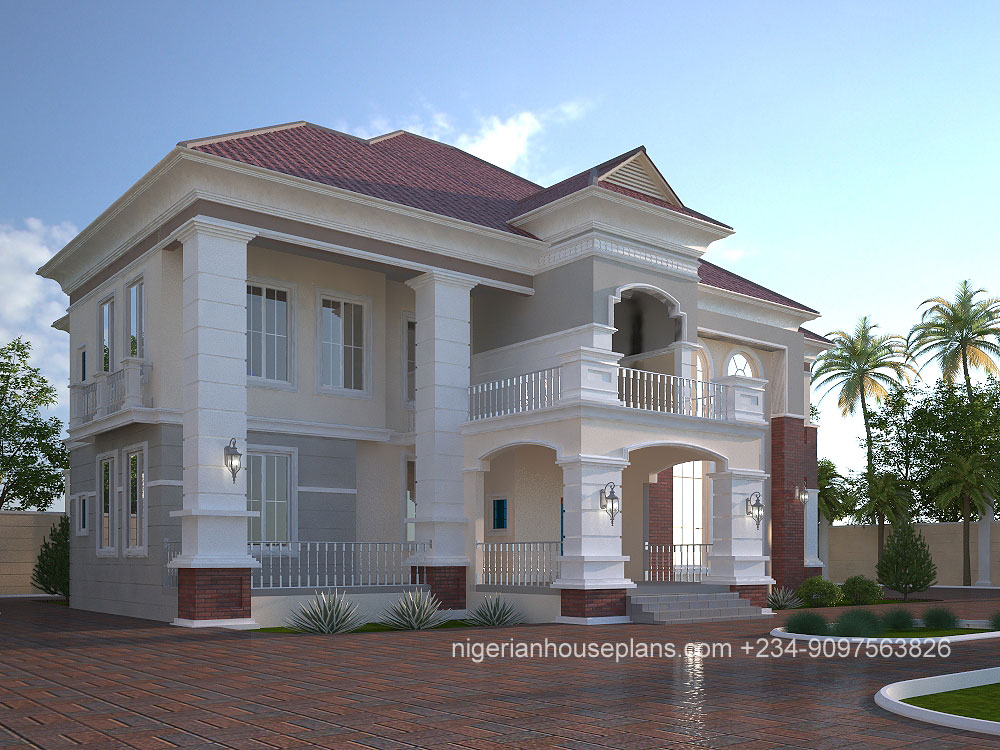 Modern duplex house plans in nigeria for Nigeria house plans