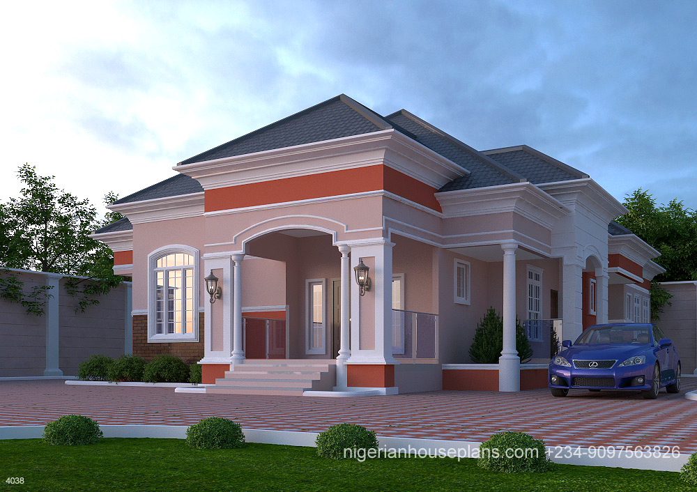 4 Bedroom Bungalow(Ref. 4038) · Nigeria,house,plan,design