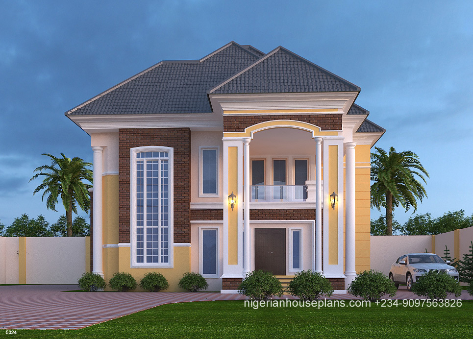 5 Bedroom Duplex (Ref.5024) - NigerianHousePlans