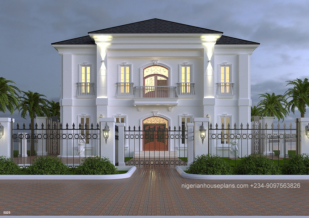 nigerianhouseplans 5025 V4 - 27+ Executive Bungalow Residential Modern Duplex House Designs In Nigeria Gif