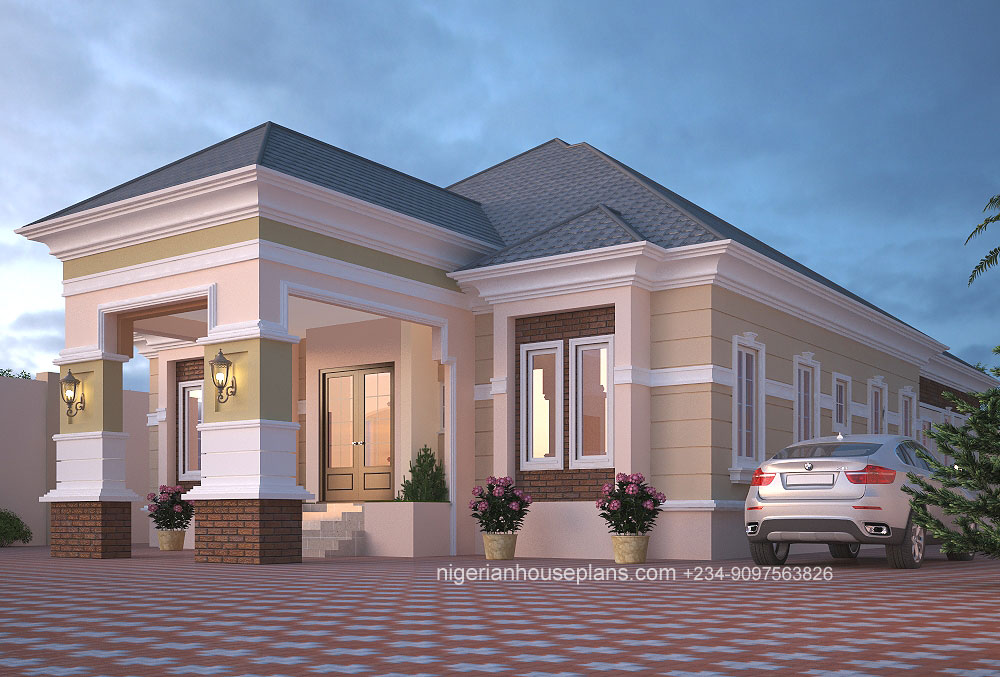 5 Bedroom Bungalow Floor Plans In Nigeria - Home Alqu
